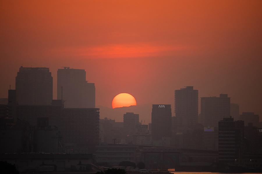 夕日スポット③ お台場海浜公園